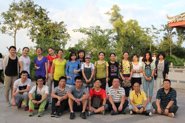 旅业学院教工党员参加登山活动